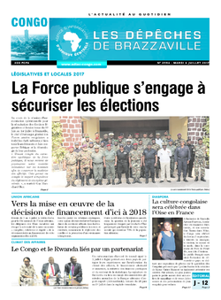 Les Dépêches de Brazzaville : Édition brazzaville du 04 juillet 2017