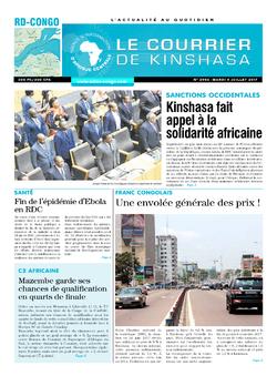 Les Dépêches de Brazzaville : Édition le courrier de kinshasa du 04 juillet 2017