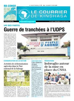 Les Dépêches de Brazzaville : Édition le courrier de kinshasa du 05 juillet 2017