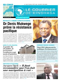 Les Dépêches de Brazzaville : Édition le courrier de kinshasa du 06 juillet 2017