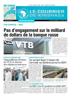 Les Dépêches de Brazzaville : Édition le courrier de kinshasa du 07 juillet 2017