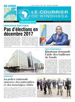 Les Dépêches de Brazzaville : Édition le courrier de kinshasa du 10 juillet 2017