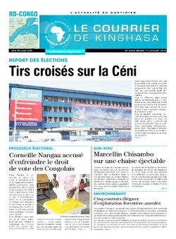 Les Dépêches de Brazzaville : Édition le courrier de kinshasa du 11 juillet 2017