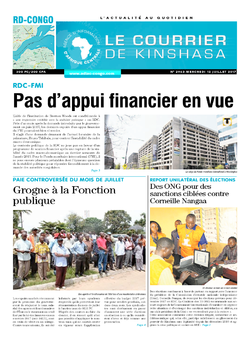 Les Dépêches de Brazzaville : Édition le courrier de kinshasa du 12 juillet 2017