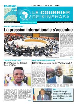 Les Dépêches de Brazzaville : Édition le courrier de kinshasa du 13 juillet 2017