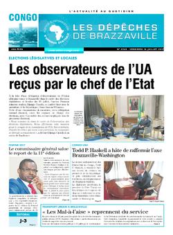 Les Dépêches de Brazzaville : Édition brazzaville du 14 juillet 2017