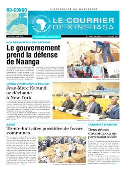 Les Dépêches de Brazzaville : Édition le courrier de kinshasa du 14 juillet 2017