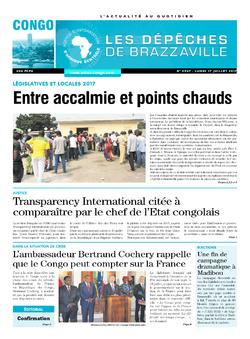Les Dépêches de Brazzaville : Édition brazzaville du 17 juillet 2017
