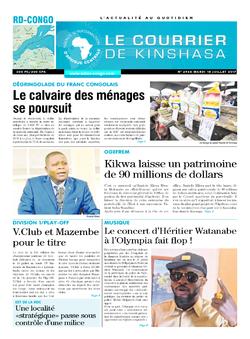 Les Dépêches de Brazzaville : Édition le courrier de kinshasa du 18 juillet 2017