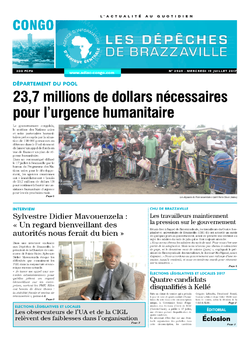 Les Dépêches de Brazzaville : Édition brazzaville du 19 juillet 2017