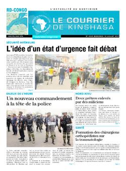 Les Dépêches de Brazzaville : Édition le courrier de kinshasa du 19 juillet 2017