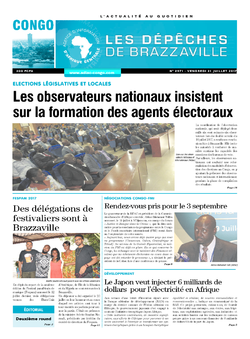 Les Dépêches de Brazzaville : Édition brazzaville du 21 juillet 2017