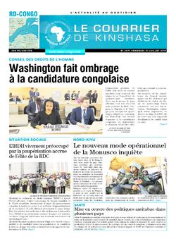 Les Dépêches de Brazzaville : Édition le courrier de kinshasa du 21 juillet 2017