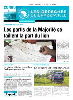 Les Dépêches de Brazzaville : Édition brazzaville du 27 juillet 2017