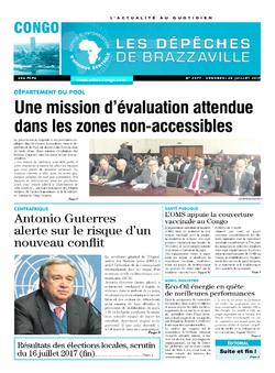 Les Dépêches de Brazzaville : Édition brazzaville du 28 juillet 2017