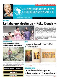 Les Dépêches de Brazzaville : Édition du 6e jour du 29 juillet 2017