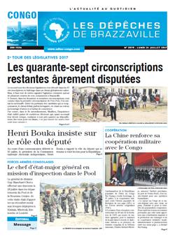 Les Dépêches de Brazzaville : Édition brazzaville du 31 juillet 2017