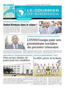 Les Dépêches de Brazzaville : Édition le courrier de kinshasa du 31 juillet 2017