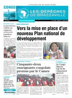 Les Dépêches de Brazzaville : Édition brazzaville du 01 août 2017