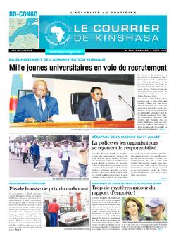Les Dépêches de Brazzaville : Édition le courrier de kinshasa du 02 août 2017