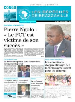 Les Dépêches de Brazzaville : Édition brazzaville du 07 août 2017