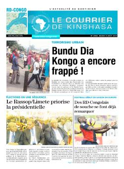 Les Dépêches de Brazzaville : Édition le courrier de kinshasa du 08 août 2017