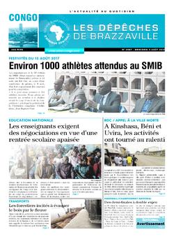 Les Dépêches de Brazzaville : Édition brazzaville du 09 août 2017