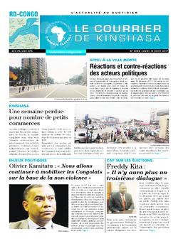 Les Dépêches de Brazzaville : Édition le courrier de kinshasa du 10 août 2017