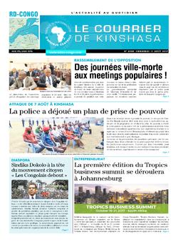 Les Dépêches de Brazzaville : Édition le courrier de kinshasa du 11 août 2017