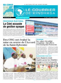 Les Dépêches de Brazzaville : Édition le courrier de kinshasa du 14 août 2017