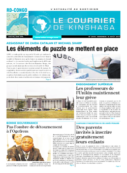 Les Dépêches de Brazzaville : Édition le courrier de kinshasa du 18 août 2017