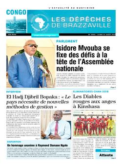 Les Dépêches de Brazzaville : Édition brazzaville du 21 août 2017