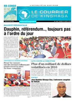 Les Dépêches de Brazzaville : Édition le courrier de kinshasa du 22 août 2017
