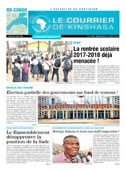 Les Dépêches de Brazzaville : Édition le courrier de kinshasa du 23 août 2017