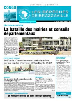 Les Dépêches de Brazzaville : Édition brazzaville du 24 août 2017