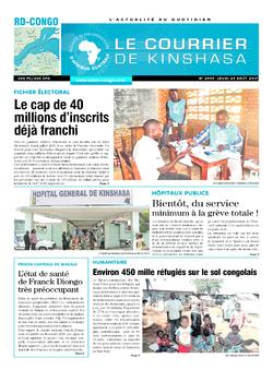 Les Dépêches de Brazzaville : Édition le courrier de kinshasa du 24 août 2017