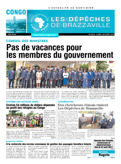 Les Dépêches de Brazzaville : Édition brazzaville du 28 août 2017