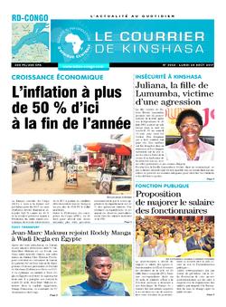 Les Dépêches de Brazzaville : Édition le courrier de kinshasa du 28 août 2017