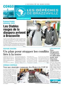 Les Dépêches de Brazzaville : Édition brazzaville du 29 août 2017