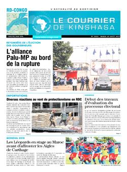 Les Dépêches de Brazzaville : Édition le courrier de kinshasa du 29 août 2017