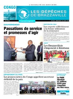 Les Dépêches de Brazzaville : Édition brazzaville du 30 août 2017