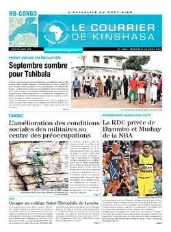 Les Dépêches de Brazzaville : Édition le courrier de kinshasa du 30 août 2017