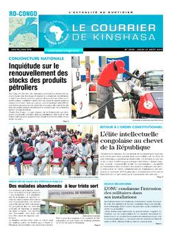 Les Dépêches de Brazzaville : Édition le courrier de kinshasa du 31 août 2017