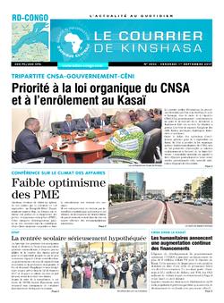 Les Dépêches de Brazzaville : Édition le courrier de kinshasa du 01 septembre 2017