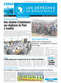 Les Dépêches de Brazzaville : Édition brazzaville du 04 septembre 2017