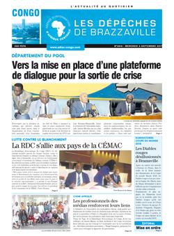 Les Dépêches de Brazzaville : Édition brazzaville du 06 septembre 2017