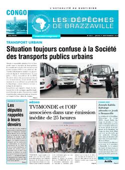 Les Dépêches de Brazzaville : Édition brazzaville du 07 septembre 2017