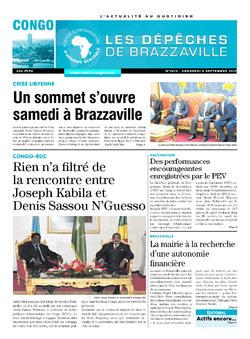 Les Dépêches de Brazzaville : Édition brazzaville du 08 septembre 2017