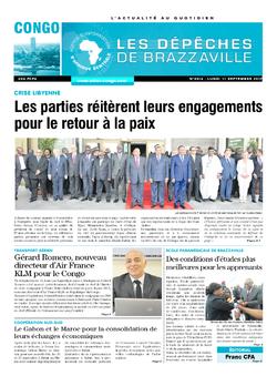 Les Dépêches de Brazzaville : Édition brazzaville du 11 septembre 2017