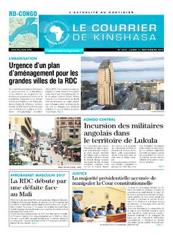 Les Dépêches de Brazzaville : Édition le courrier de kinshasa du 11 septembre 2017